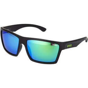 UVEX LGL 29 Cykelbriller, black mat/green